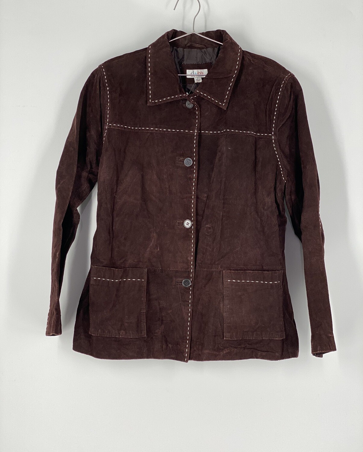 D&Co. Brown Leather Jacket Size L