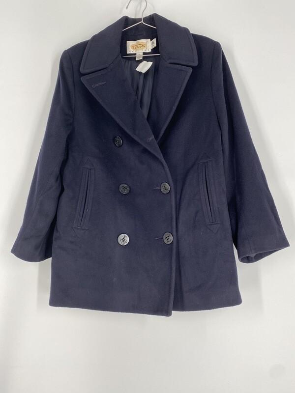 Talbots Black Wool Heavy Coat Size L