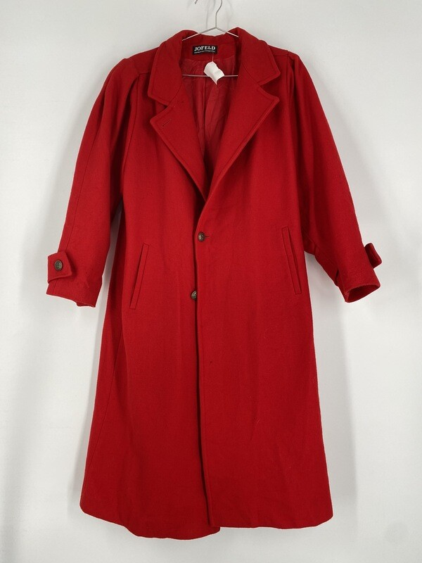 Jofeld Red Trench Coat Size L