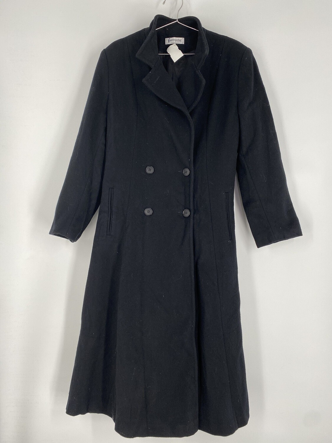 Forecaster Black Trench Coat Size L