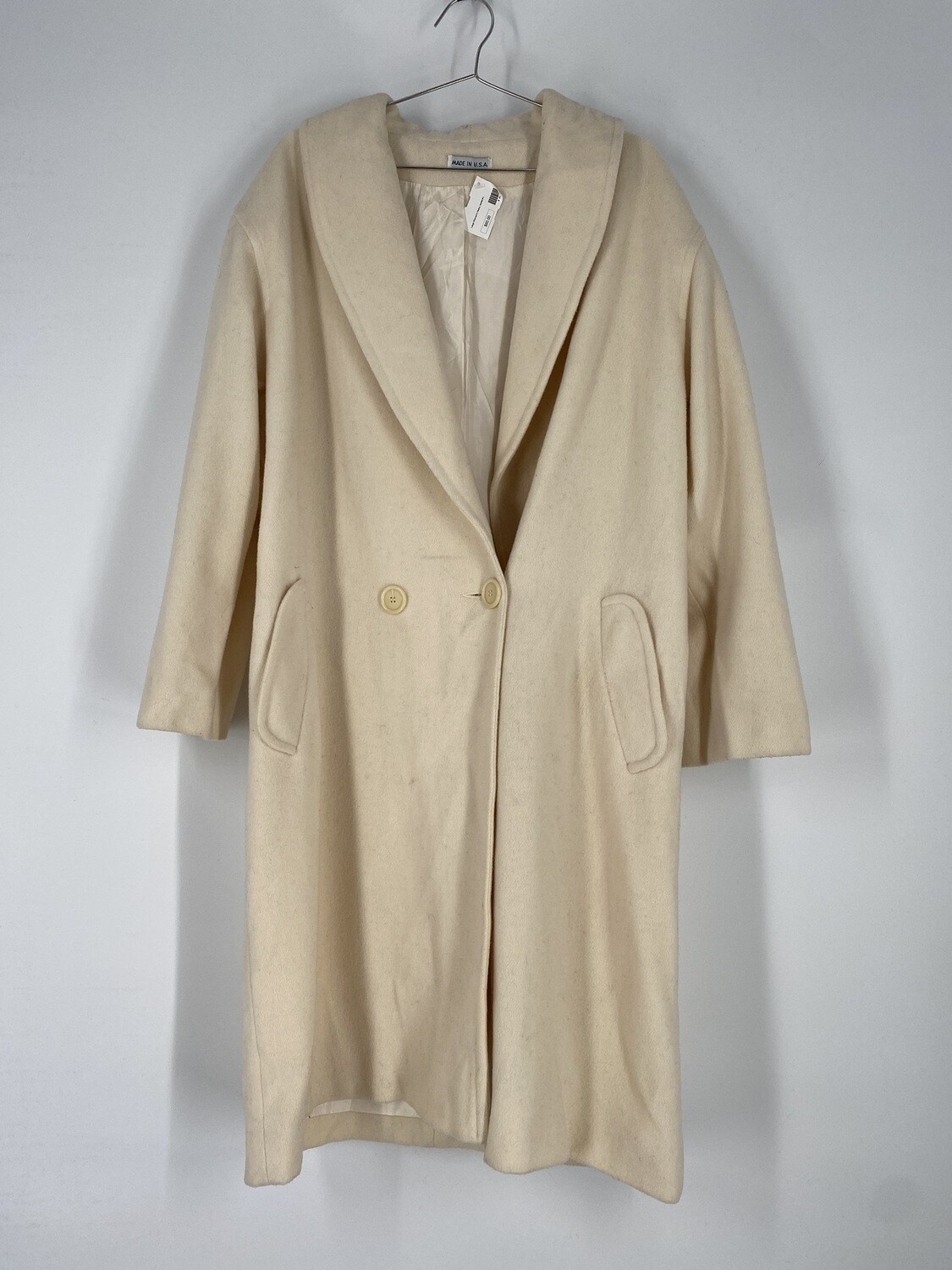 Large Cream Trench Coat