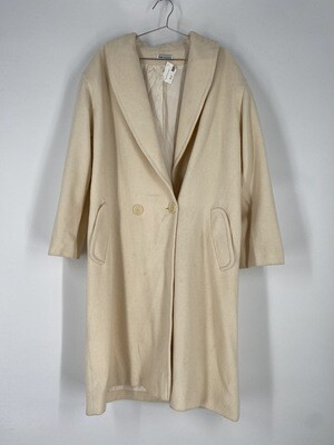 Large Cream Trench Coat