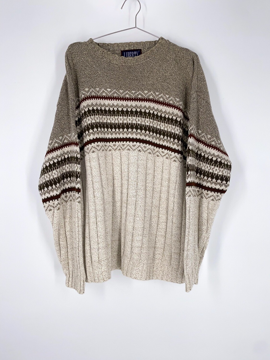 Patterned Sweater Size L