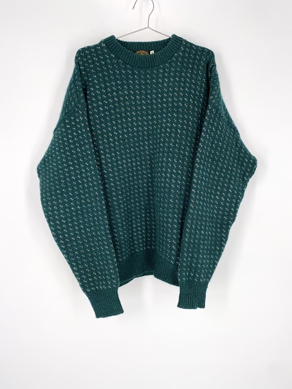 Green Wool Sweater Size L