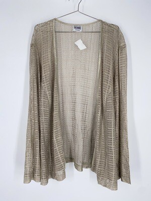 R&M Richards Loose Knit Gold And Cream Top Size L
