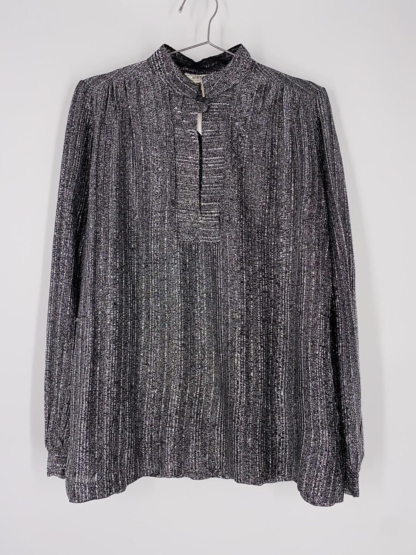 Alice Stuart Metallic Silver Top Size L