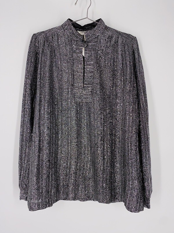 Alice Stuart Metallic Silver Top Size L