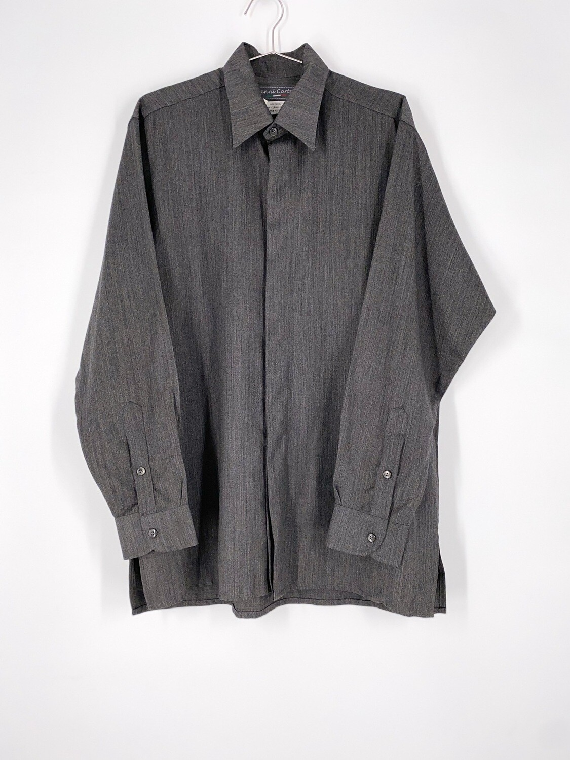 Grey Wool Button Up Size L