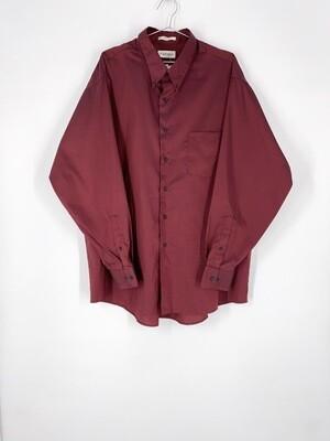 Burgundy Iridescent Button Up Size XL