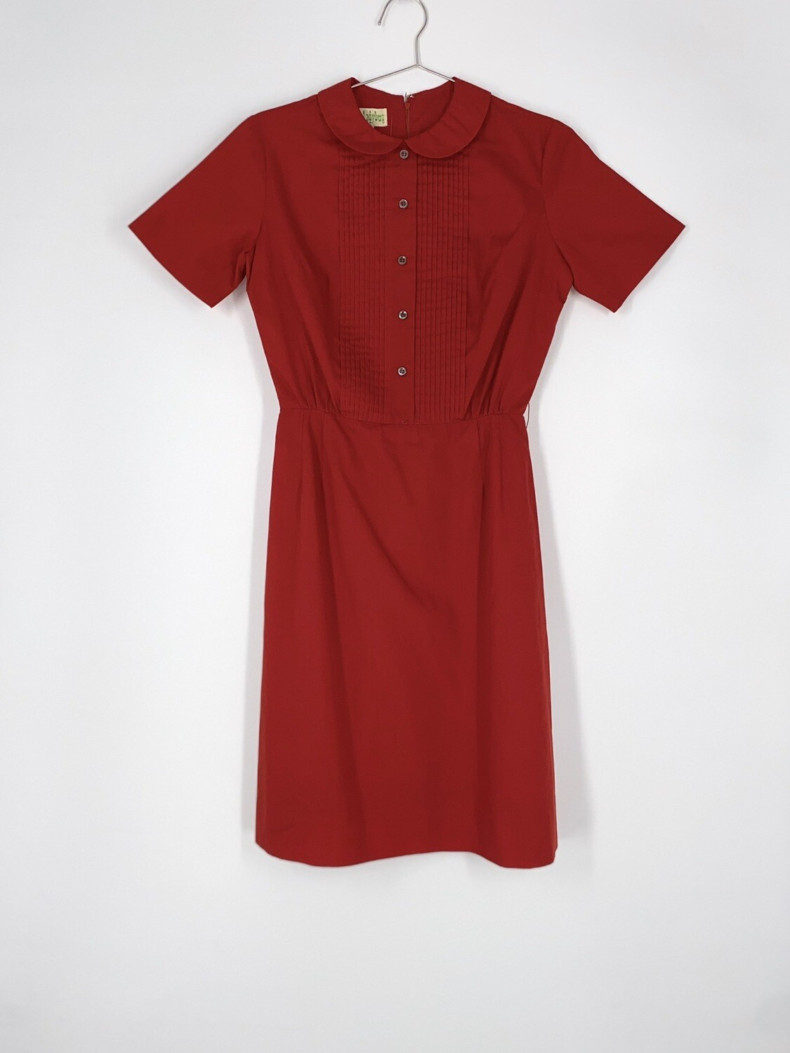 Red Collared Dress Size L