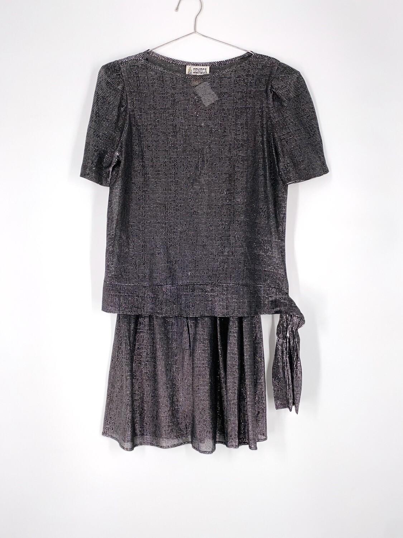 Silver Sparkly Tie Dress Size L