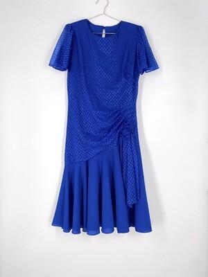 Blue Ruffled Dress Size M
