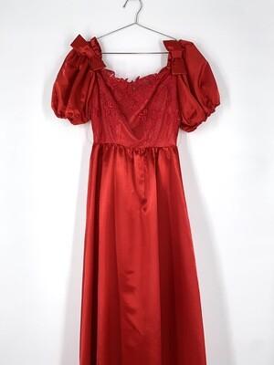 Lace Top Floor Length Dress Size M