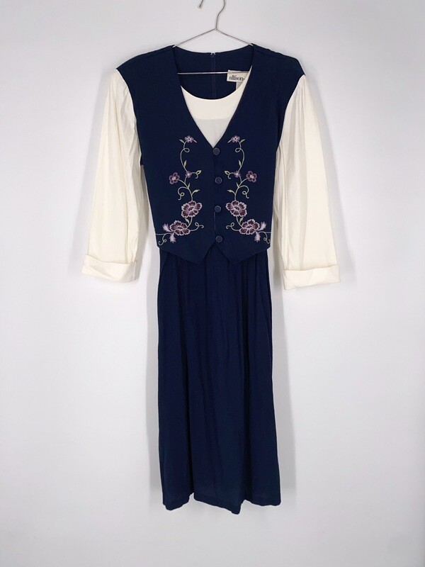Embroidered Vest Top Dress Size M