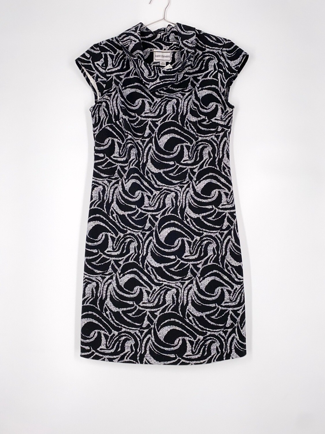 Cowl Neck Printed Dress Size M