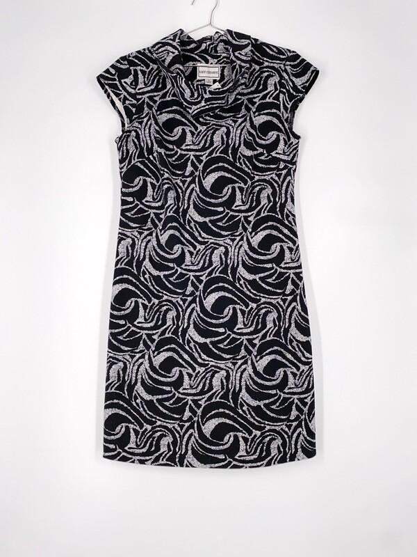 Cowl Neck Printed Dress Size M