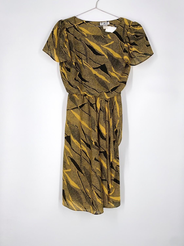 Yellow Patterned Dress Size M