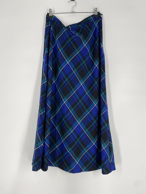 Talbots Blue Plaid Skirt Size M