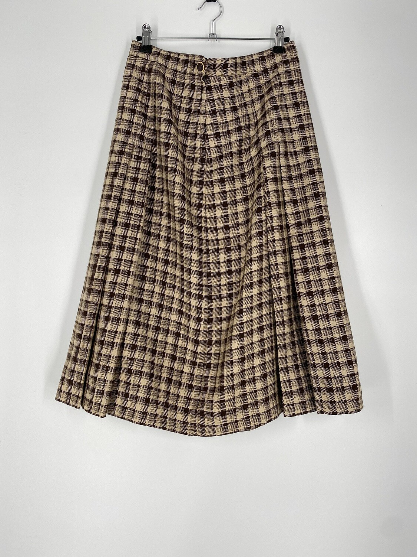 Bando Tan Plaid Skirt Size L