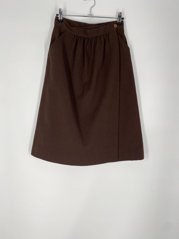 Konnie O Dark Brown Skirt Size M