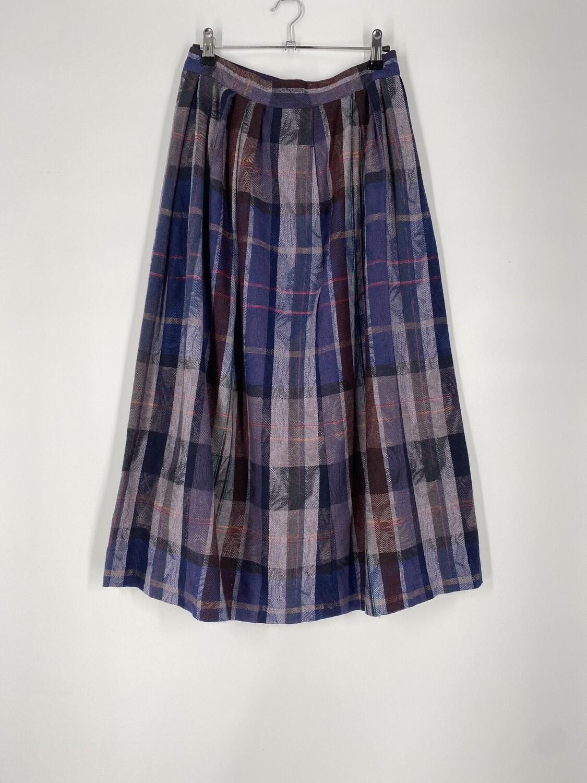The Villager Purple Plaid Skirt Size L