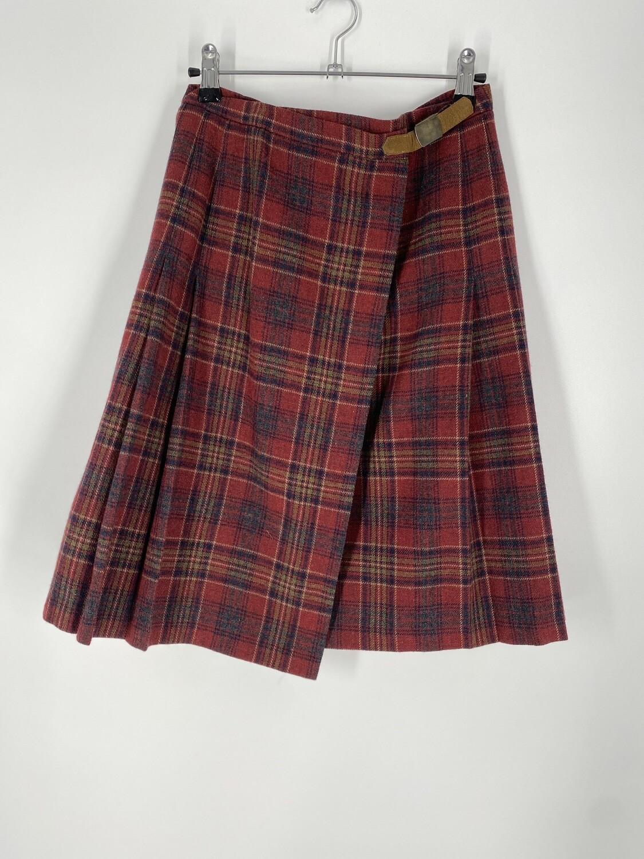Pendleton Red Plaid Skirt Size S