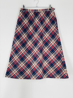 Centuru Plaid Wool Skirt Size M