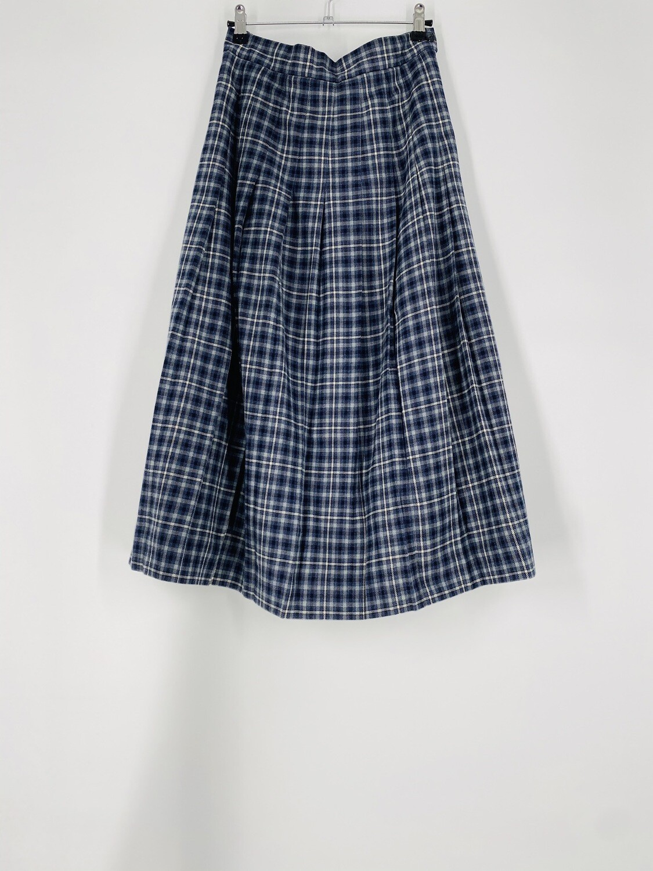 LL Bean Plaid Skirt Size M