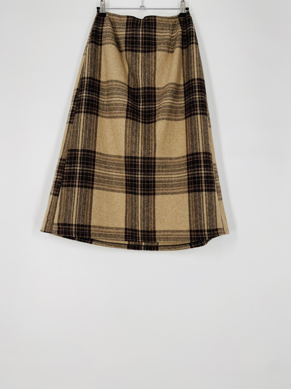 Tan Plaid Skirt Size S