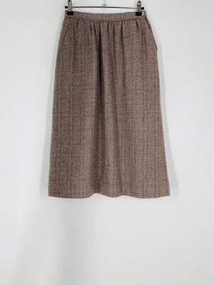 Evan Picone Plaid Wool Skirt Size S