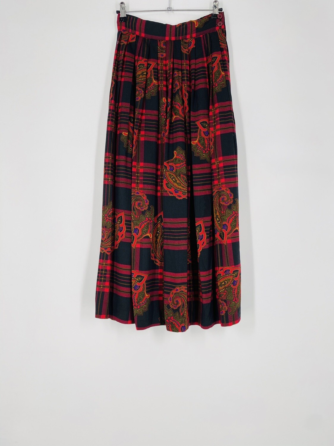 JG Hook Red Printed Skirt Size S