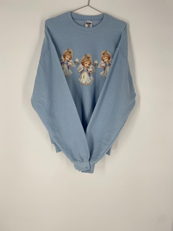 Light Blue Holiday Sweatshirt Size M