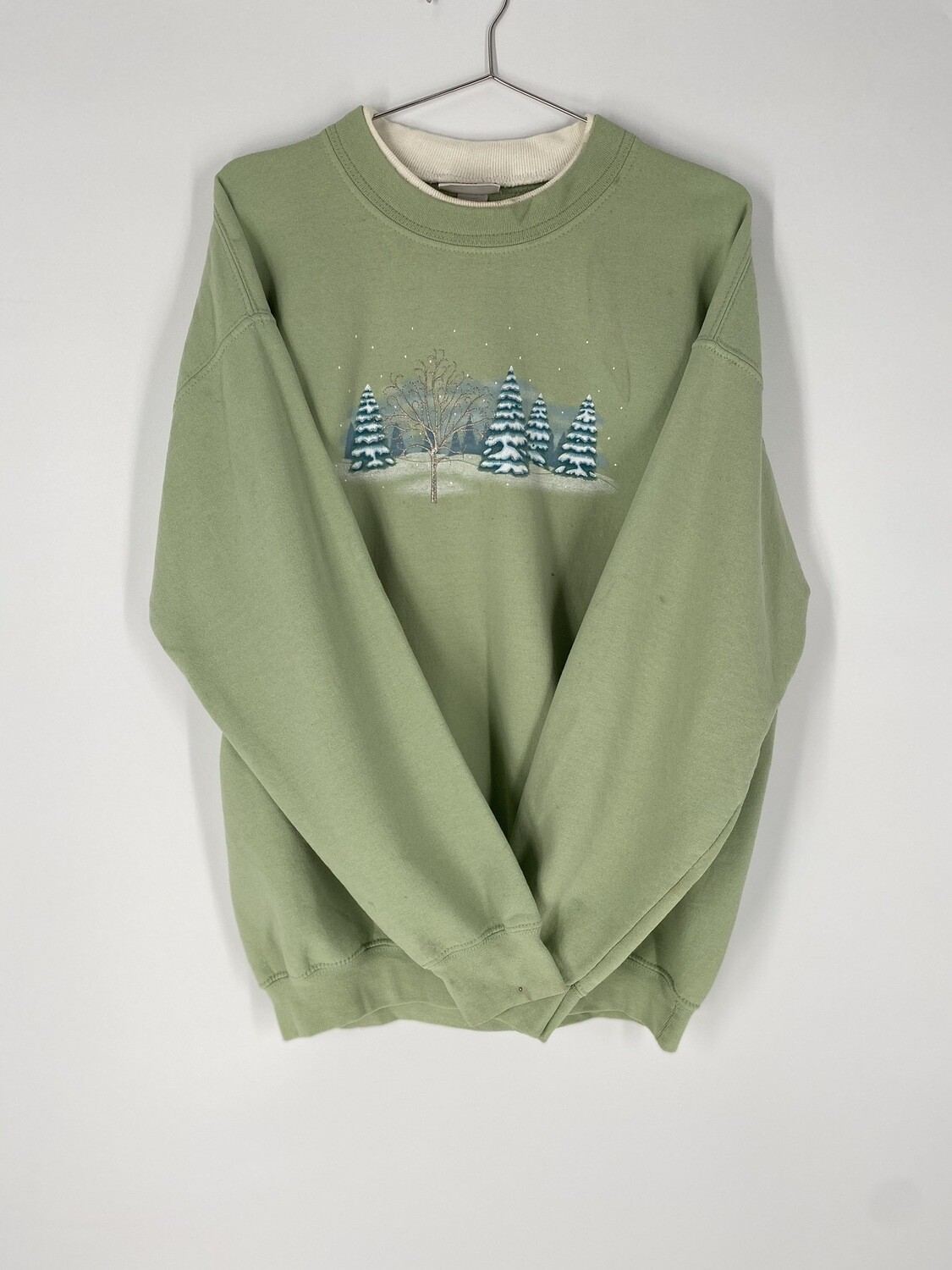 Green Holiday Sweatshirt Size L