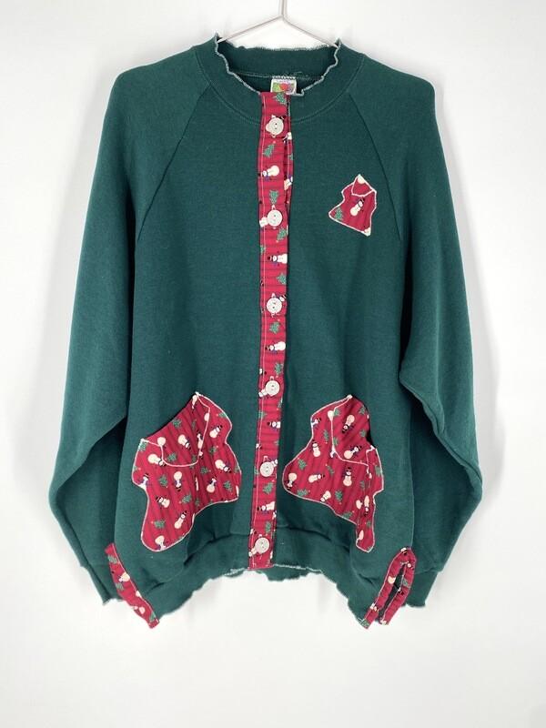 Green Holiday Sweatshirt Size L