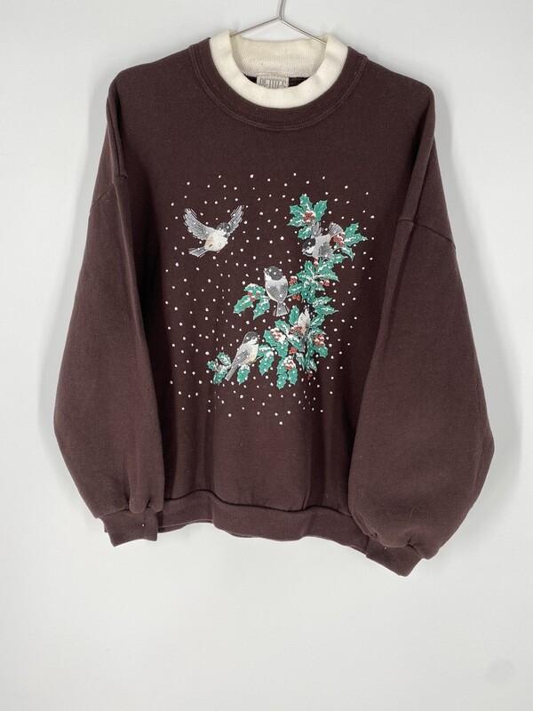 Brown Holiday Sweatshirt Size L