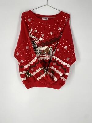 Red Holiday Sweatshirt Size M