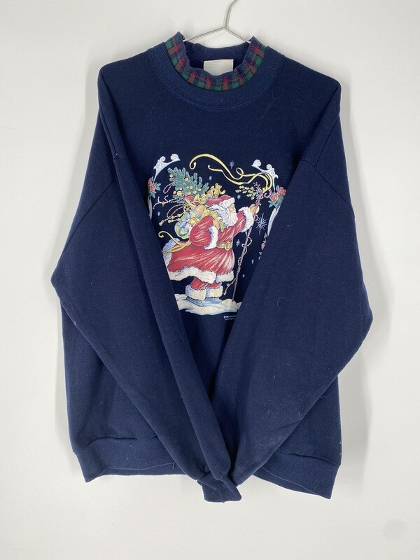 Blue Holiday Sweatshirt Size L
