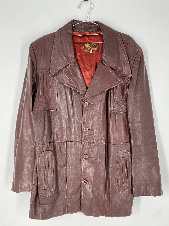 Learsi Burgundy Leather Jacket Size L
