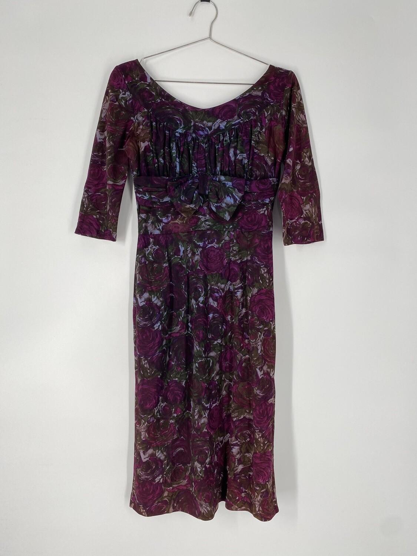 Vintage Floral Dress Size S