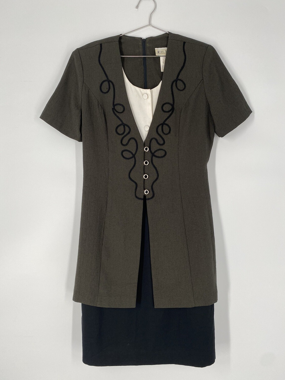 Miss Dorby Dress With Attached Blazer Size M