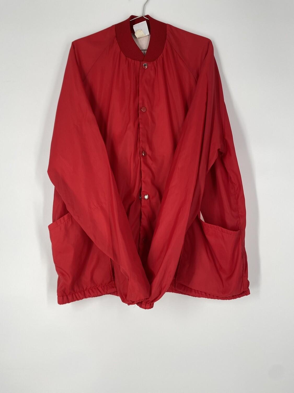 D.G Sportswear Red Lightweight Jacket Size L