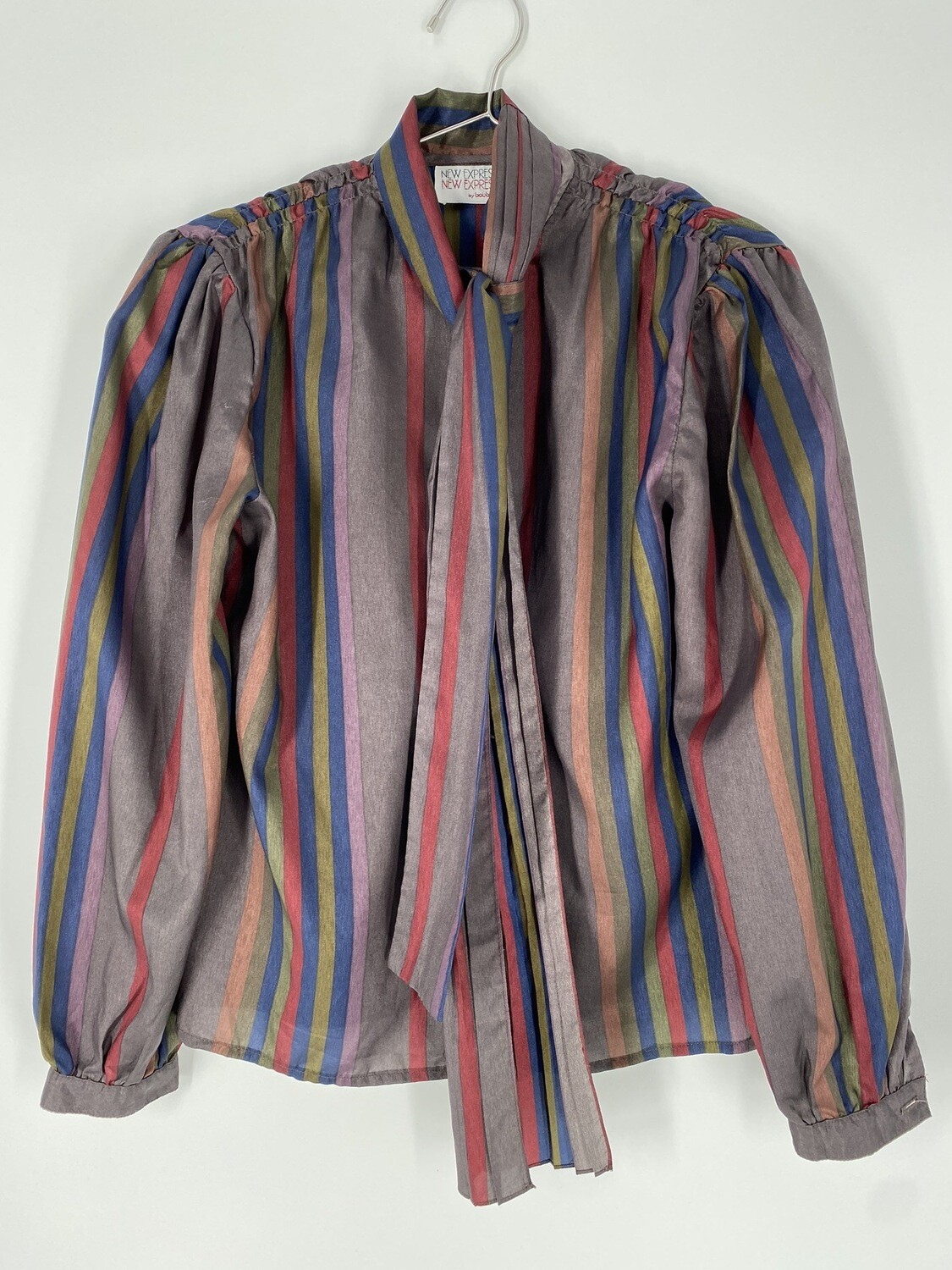 New Expressions By Bobbie Brooks Striped Blouse Size M