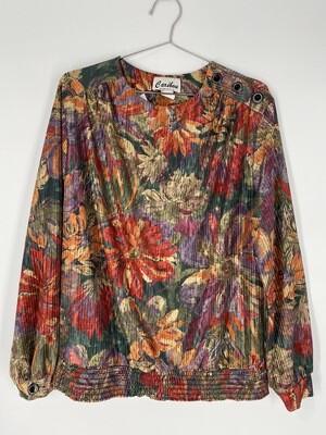 Caribou Floral Print Blouse Size L