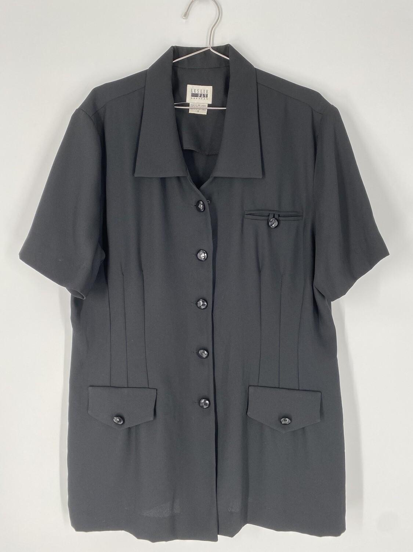 Leslie Fay Button-Up Dress Size L