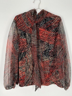 Ilgwu Blouse With Tie Size L