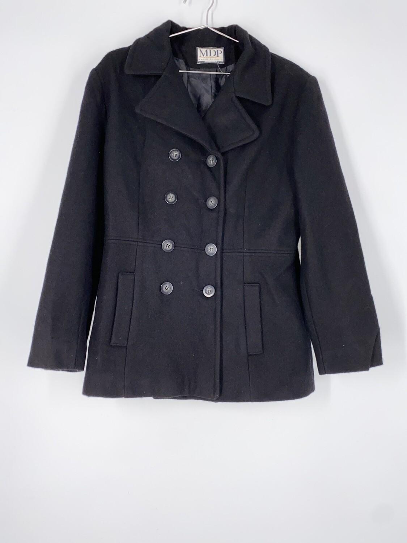 Mario De Pinto Short Black Wool Heavy Jacket Size S