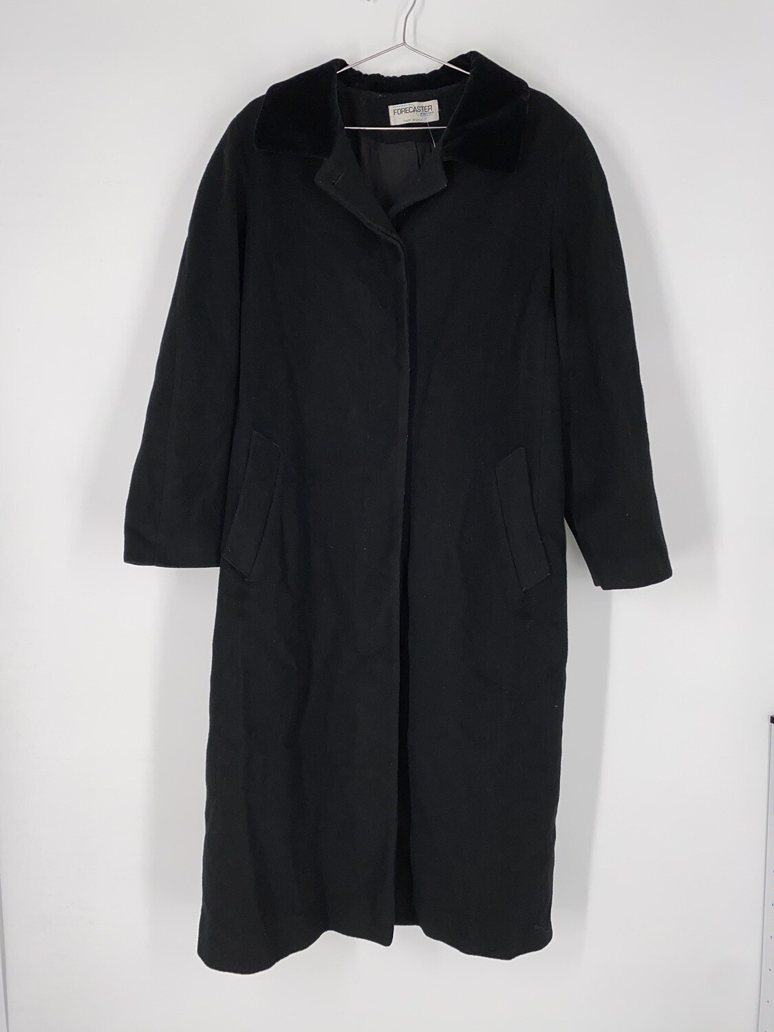 Forecaster Long Black Wool Heavy Jacket Size L