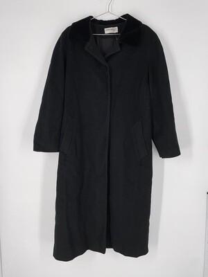 Forecaster Long Black Wool Heavy Jacket Size L