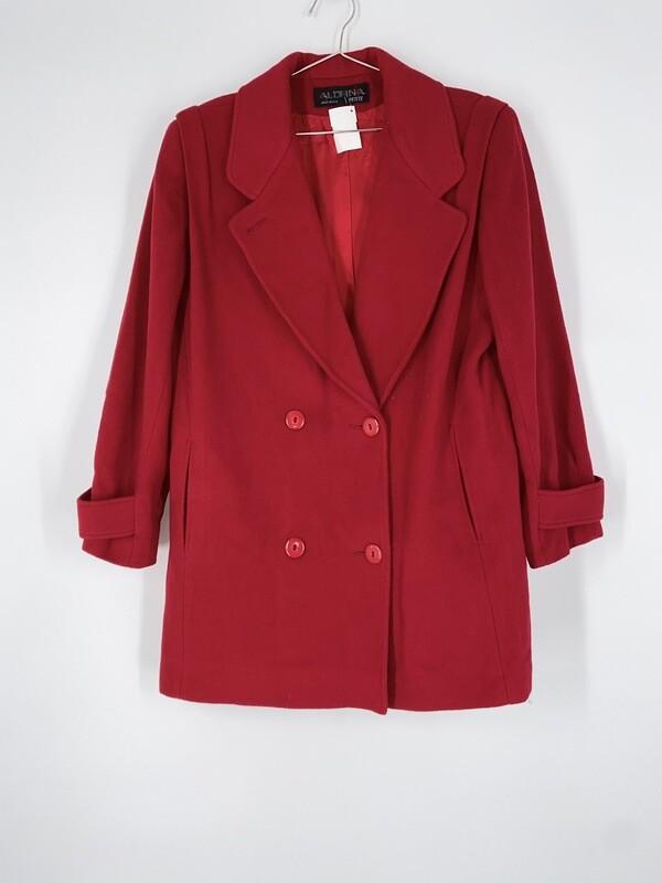Aldrna Red Wool Heavy Jacket Size L