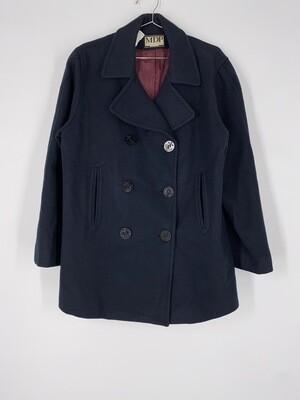 Mario De Pinto Navy Blue Heavy Wool Jacket Size S